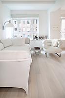 modern white armchair