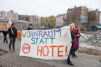 2018/11/24 Berlin | Kreuzberg | Protest gegen Hotelneubau