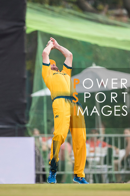 Captain John Hastings of Australia takes a catch during Day 1 of Hong Kong Cricket World Sixes 2017 Group B match between New Zealand Kiwis vs Australia at Kowloon Cricket Club on 28 October 2017, in Hong Kong, China. Photo by Vivek Prakash / Power Sport Images