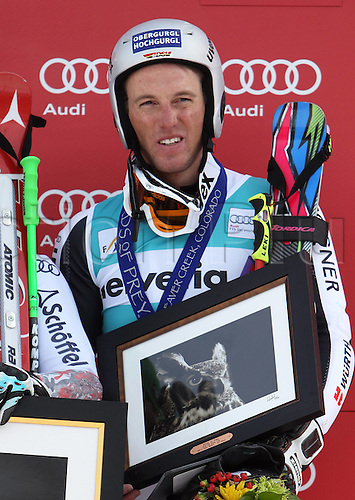 04.12.2011. Beaver Creek Colorado USA Ski Alpine FIS World Cup Giant slalom the men Award Ceremony Picture shows Fritz Dopfer ger