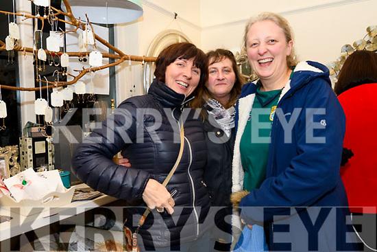 Denise Uí Bheaglaoi, Brenda Moroney and Michelle Fitzgerald enjoying the Coach House Dingle's twinkle Thursday Christmas celebrations.