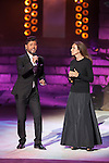 Singers Miguel Poveda and Ana Belen perform during 2014 Theater Ceres Awards ceremony at Merida, Spain. August 28, 2014. (ALTERPHOTOS/Victor Blanco)