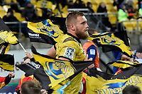 Hurricanes&rsquo; Brad Shields in action during the Super Rugby - Hurricanes v Blues at Westpac Stadium, Wellington, New Zealand on Saturday 7 July 2018.<br /> Photo by Masanori Udagawa. <br /> www.photowellington.photoshelter.com