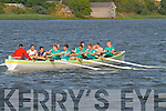 The Cnuicín Crew coxed by Michael O'Driscoll in action at the Callinafercy Regatta on Sunday.