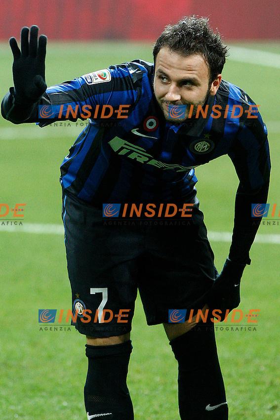 """Giampaolo Pazzini Inter.Milano 07/01/2012 Stadio """"S.Siro"""".Football / Calcio Serie A 2011/2012.Inter vs Parma.Foto Insidefoto Paolo Nucci"""