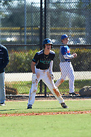 Mitchell Riccio (1) of Notre Dame, Connecticut during the Baseball Factory All-America Pre-Season Rookie Tournament, powered by Under Armour, on January 14, 2018 at Lake Myrtle Sports Complex in Auburndale, Florida.  (Michael Johnson/Four Seam Images)