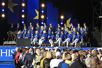 The European Team during the Opening Ceremony of the Solheim Cup 2019 at Gleneagles Golf CLub, Auchterarder, Perthshire, Scotland. 12/09/2019.<br /> Picture Thos Caffrey / Golffile.ie<br /> <br /> All photo usage must carry mandatory copyright credit (© Golffile | Thos Caffrey)