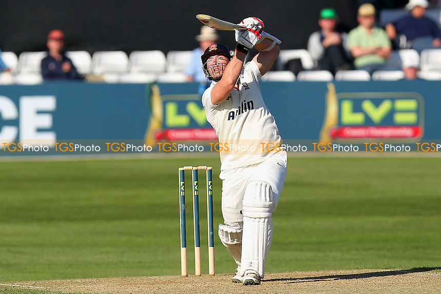 Graham Napier of Essex finds the boundary again for his team - Essex CCC vs Hampshire CCC - LV County Championship Division Two Cricket at the Essex County Ground, Chelmsford - 01/05/13 - MANDATORY CREDIT: Gavin Ellis/TGSPHOTO - Self billing applies where appropriate - 0845 094 6026 - contact@tgsphoto.co.uk - NO UNPAID USE.