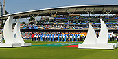 June 18th 2017, The Kia Oval, London, England;  ICC Champions Trophy Cricket Final; India versus Pakistan; The India team during their national anthem