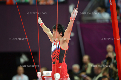 Koji Yamamuro (JPN), .JULY 30, 2012 - Artistic Gymnastics : .Men's Qualification Rings at North Greenwich Arena .during the London 2012 Olympic Games in London, UK.  .(Photo by Jun Tsukida/AFLO SPORT) [0003]