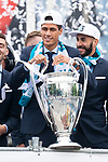 Real Madrid Raphael Varane during the celebration of the Thirteen Champions League at Cibeles Fountain in Madrid, Spain. May 27, 2018. (ALTERPHOTOS/Borja B.Hojas)
