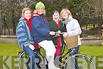 OLDFASHIONED: Cycling their old fashioned Bike on Bycle day in Tralee on Saturday were:Mary Burke,Nora Keogan,Marie Duffy and Sue Holmes. ..   Copyright Kerry's Eye 2008