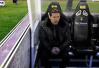 Simeone during Real Valladolid V Atletico de Madrid match of La Liga 2012/13. 17/02/2012. Victor Blanco/Alterphotos /NortePhoto