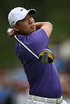 7 September 2008:    Anthony Kim tees off in the fourth and final round of play at the BMW Golf Championship at Bellerive Country Club in Town & Country, Missouri, a suburb of St. Louis, Missouri on Sunday September 7, 2008. The BMW Championship is the third event of the PGA's  Fed Ex Cup Tour.