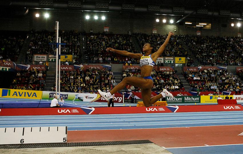 Photo: Richard Lane/Richard Lane Photography. Aviva Grand Prix. 20/02/2010. Cuba's Keila Costa during the women's long jump.