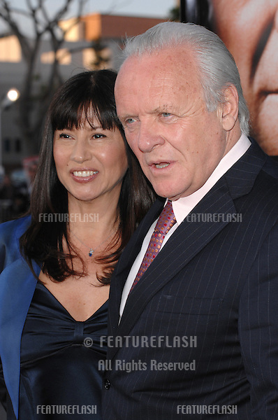 "Anthony Hopkins & wife Stella Arroyave at the Los Angeles premiere of ""Fracture""..April 12, 2007  Los Angeles, CA.Picture: Paul Smith / Featureflash"