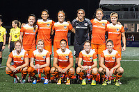 Allston, MA - Wednesday Aug. 31, 2016: Houston Dash Starting Eleven prior to a regular season National Women's Soccer League (NWSL) match between the Boston Breakers and the Houston Dash at Jordan Field.