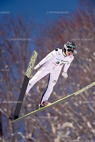 Kento Sakuyama (JPN),<br /> JANUARY 25, 2015 - Ski Jumping :<br /> FIS Ski Jumping World Cup Large Hill Individual (HS134) at Okurayama Jump Stadium in Sapporo, Hokkaido, Japan. (Photo by Hitoshi Mochizuki/AFLO)