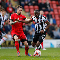 Grimsby Town's Tom Bolarinwa in action during the Sky Bet League 2 match between Leyton Orient and Grimsby Town at the Matchroom Stadium, London, England on 11 March 2017. Photo by Carlton Myrie / PRiME Media Images.