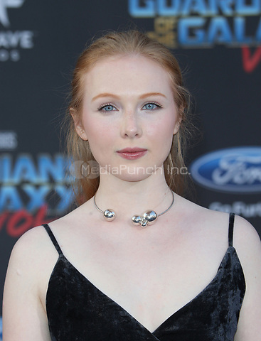 "HOLLYWOOD, CA - April 19: Molly Quinn, At Premiere Of Disney And Marvel's ""Guardians Of The Galaxy Vol. 2"" At The Dolby Theatre  In California on April 19, 2017. Credit: FS/MediaPunch"