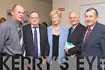 Seamus Cosaigh Fitzgerald, Tom Fitzgerald, Mairead Fernane, Michael Moriarty and Ted Fitzgerald, who attended the Pictured at the Offical launch of Kerry adult education training courses directory 2012 at the KES offices in John Joe Sheehy Road, Tralee on Friday. .