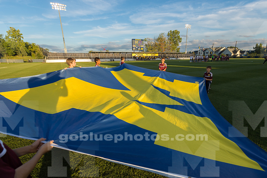 The University of Michigan men's soccer team, 2-0, loss to Indiana at the Michigan Soccer Stadium in Ann Arbor, Mich., on Sept. 14, 2016.
