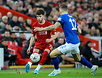 Liverpool's Neco Williams takes on Everton's Lucas Digne<br /> <br /> Photographer Alex Dodd/CameraSport<br /> <br /> Emirates FA Cup Third Round - Liverpool v Everton - Sunday 5th January 2020 - Anfield - Liverpool<br />  <br /> World Copyright © 2020 CameraSport. All rights reserved. 43 Linden Ave. Countesthorpe. Leicester. England. LE8 5PG - Tel: +44 (0) 116 277 4147 - admin@camerasport.com - www.camerasport.com