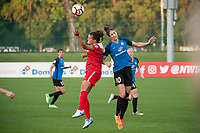 Kansas City, MO - Saturday May 27, 2017: Katherine Stengel, Yael Averbuch during a regular season National Women's Soccer League (NWSL) match between FC Kansas City and the Washington Spirit at Children's Mercy Victory Field.