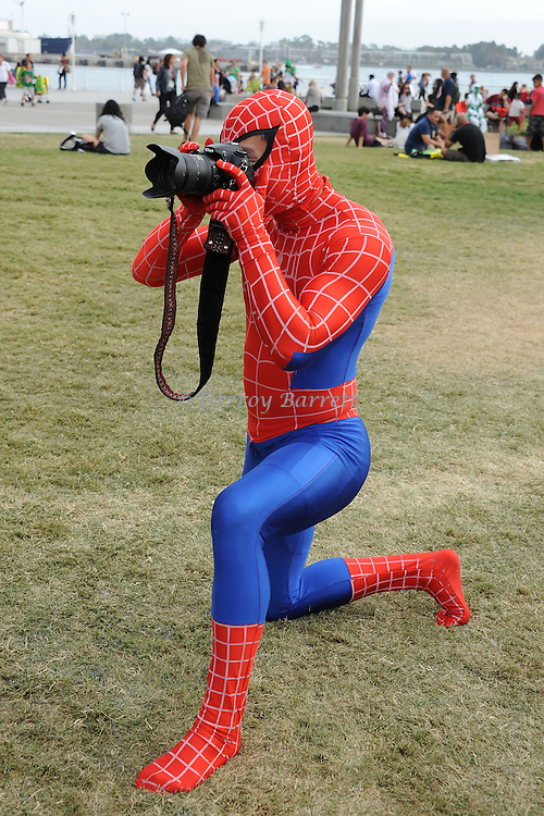 Spider Man Fan aka Peter Parker at Comic-Con 2014 in San Diego, Ca. July 26, 2014.