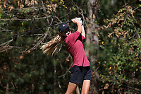 CHAPEL HILL, NC - OCTOBER 11: Emily Price of the University of South Carolina tees off at UNC Finley Golf Course on October 11, 2019 in Chapel Hill, North Carolina.