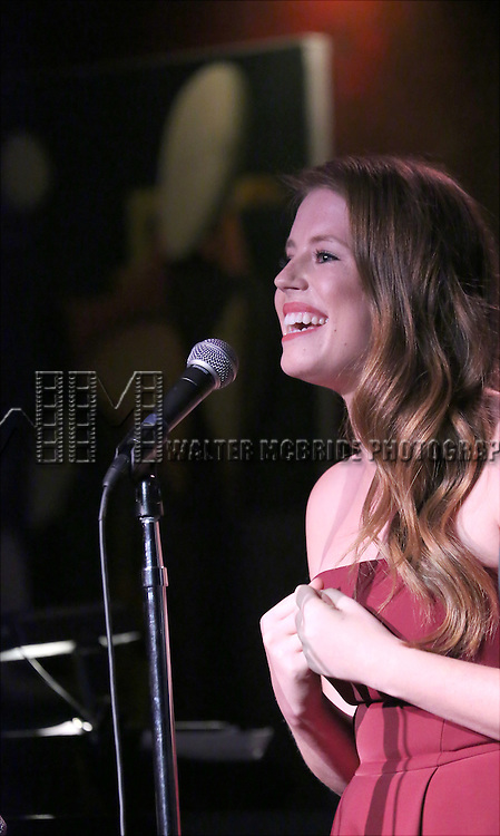 Allie Trimm performing at The Lilly Awards Broadway Cabaret at the Cutting Room on October 17, 2016 in New York City.