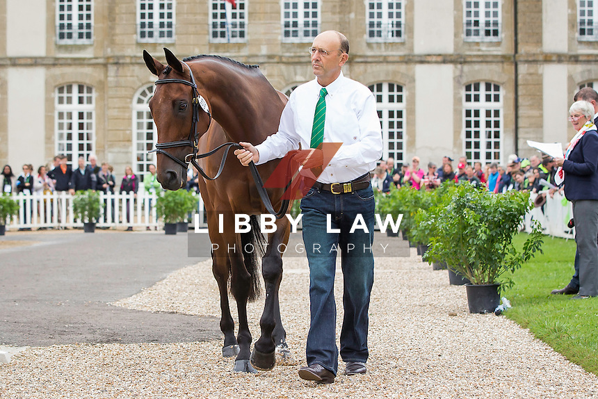 AUS-Bill Levett (SHANNONDALE TITAN) FIRST HORSE INSPECTION: EVENTING: The Alltech FEI World Equestrian Games 2014 In Normandy - France (Wednesday 27 August) CREDIT: Libby Law COPYRIGHT: LIBBY LAW PHOTOGRAPHY - NZL