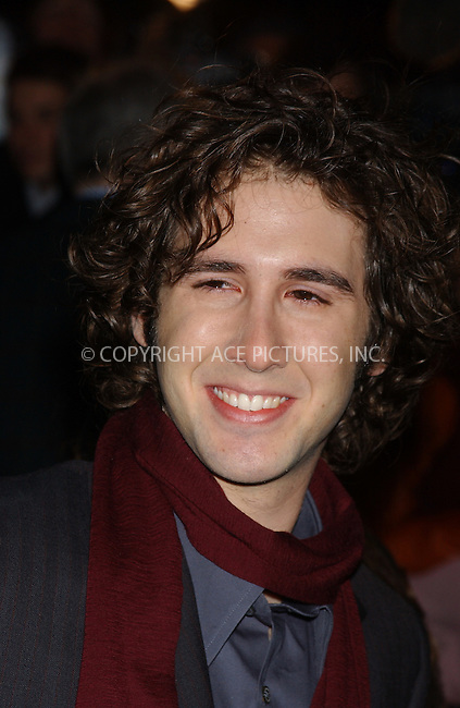 "WWW.ACEPIXS.COM . . . . . ..NEW YORK, NOVEMBER 8, 2004: Josh Groban attending New York Premiere of ""The Polar Express."" Please byline: ACE006 - ACE PICTURES.. . . . . . ..Ace Pictures, Inc:  ..Alecsey Boldeskul (646) 267-6913 ..Philip Vaughan (646) 769-0430..e-mail: info@acepixs.com..web: http://www.acepixs.com"