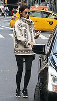 WWW.ACEPIXS.COM<br /> <br /> November 9 2015, New York City<br /> <br /> Model Lily Aldridge arrives at Victoria's Secret head office in Midtown Manhattan for pre-show fittings on November 9 2015 in New York City<br /> <br /> By Line: Zelig Shaul/ACE Pictures<br /> <br /> <br /> ACE Pictures, Inc.<br /> tel: 646 769 0430<br /> Email: info@acepixs.com<br /> www.acepixs.com