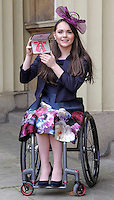 23 February 2017 - Paralympian Lauren Rowles during an Investiture Ceremony at Buckingham Palace in London. Photo Credit: ALPR/AdMedia