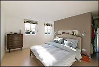 BNPS.co.uk (01202 558833)<br /> Pic: TuckerGardner/BNPS<br /> <br /> One of the bedrooms.<br /> <br /> Potential buyers are scrambling to view a unique RAF control tower that has appeared on the property radar near Saffron Walden in Essex.<br /> <br /> A Second World War tower has been transformed into a stylish family home and is now on the market for &pound;775,000.<br /> <br /> Little Walden airfield in Essex was opened in 1944 and the base was home to American Mustang fighters and B17 Flying Fortresses throughout the war.<br /> <br /> It is now a four-bedroom home with a wrap-around balcony and access to the rooftop to make the most of the panoramic views of the surrounding open countryside.<br /> <br /> Although in its secluded rural location the only flypast your likely to see nowadays is of the feathered variety.