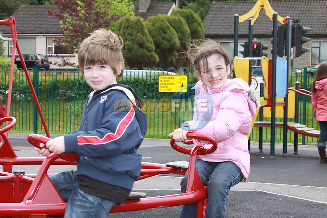 Padráig Finn-Gallagher and Aoife Finn-Gallagher at the Arts Festival in Dominics park.Pic Fran Caffrey/Newsfile.ie