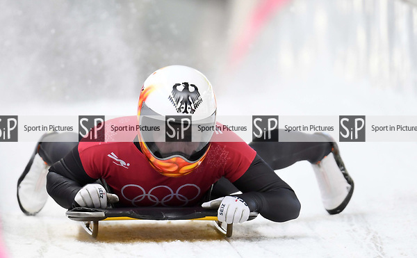 Tina Hermann (GER). Womens skeleton training. Pyeongchang2018 winter Olympics. Alpensia sliding centre. Alpensia. Gangneung. Republic of Korea. 12/02/2018. ~ MANDATORY CREDIT Garry Bowden/SIPPA - NO UNAUTHORISED USE - +44 7837 394578