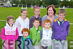 Enjoying the Killorglin Pony show on Sunday front row l-r: oisin Clifford, Darragh, Shane Clifford Killorglin, back row: Orla O'Brien, Ciara O'Brien Caragh Lake, Sarah Clifford Killorglin, Breda O'Sullivan and Eoin Clifford  Carragh Lake..
