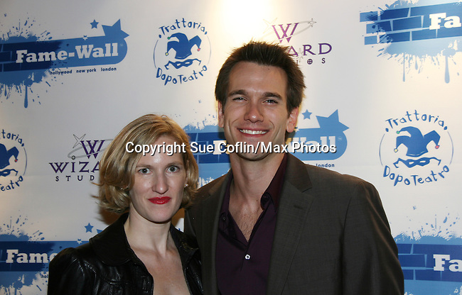 All My Children - Adam Mayfield & girlfriend Marlena Nichols at the Fame-Wall World Premiere Launch Party and Inaugural Portrait Unveiling Honoring John Stamos currently starring in Broadway's Bye, Bye Birdie on September 10, 2009 at Trattoria Dopo Teatro, NYC - now Home of New Fame-Wall, NYC. Fame-Wall salutes those who have inspired people and made a significant impact through the world of art and entertainment. (Photo by Sue Coflin/Max Photos)