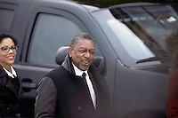 Founder of BET  Television, Robert Johnson arrives for a meeting with United States President-elect Donald Trump (not pictured) at the clubhouse of Trump International Golf Club, in Bedminster Township, New Jersey, USA, 20 November 2016.<br /> Credit: Peter Foley / Pool via CNP /MediaPunch