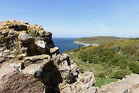 Blick von der Burgruine Hammershus auf der Insel Bornholm, D&auml;nemark, Europa<br /> View from castle ruin Hammershus, Isle of Bornholm, Denmark