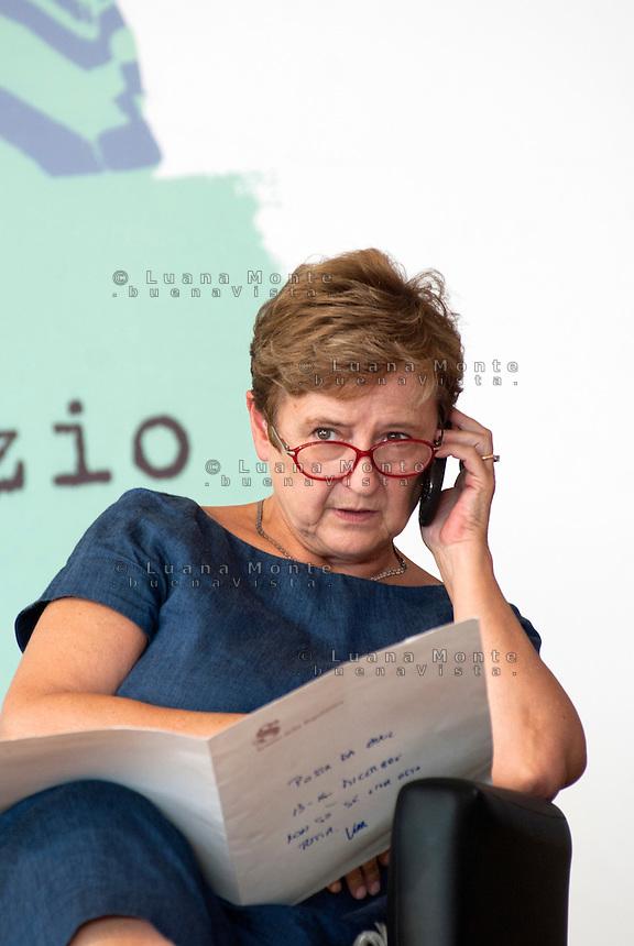 Marilena Adamo durante la festa del Partito Democratico. Milano, 17 settembre 2011<br /> <br /> Marilena Adamo during the Democratic Party meeting. Milan, September 17, 2011