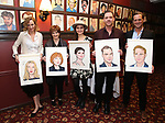 """Uma Thurman, Blair Brown, Phillipa Soo, Marton Csokas and  Josh Lucas from the cast of """"The Parisian Woman"""" honored with a Sardi's Wall of Fame Portrait on February 28, 2018 at Sardi's in New York City."""
