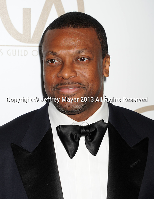 BEVERLY HILLS, CA - JANUARY 26: Chris Tucker arrives at the 24th Annual Producers Guild Awards at The Beverly Hilton Hotel on January 26, 2013 in Beverly Hills, California.