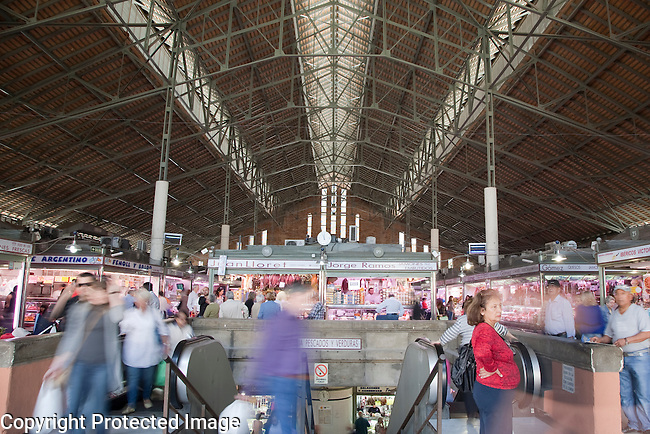 Interior of Market of Alicante - Mercado Central, Spain