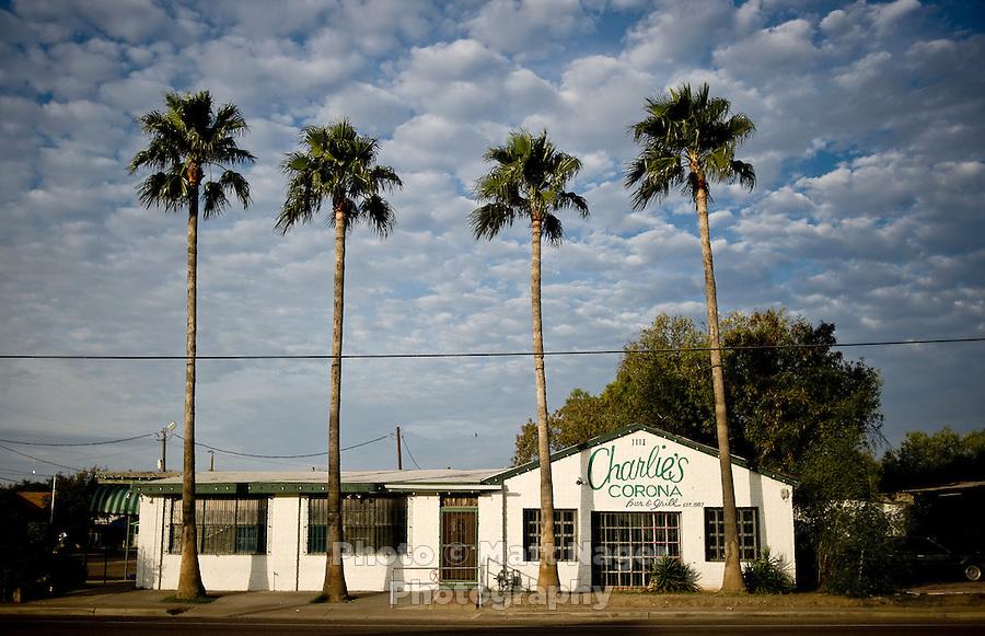 Charlie's Corona Bar and Grill in Laredo, Texas, US, Wednesday, Dec., 11, 2009. ..PHOTOS/ MATT NAGER