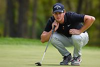 Thomas Pieters (BEL) lines up his putt on 9 during round 4 of the 2019 PGA Championship, Bethpage Black Golf Course, New York, New York,  USA. 5/19/2019.<br /> Picture: Golffile | Ken Murray<br /> <br /> <br /> All photo usage must carry mandatory copyright credit (© Golffile | Ken Murray)
