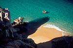 Cabo San Lucas, Mexico, Couple, small boat, perfect beach, Baja Sur, Gulfo de California, Sea of Cortez, Gulf of California, North America