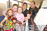 Sarah Moran, Caoimhe Doyle, Eimear Doyle, Lucy White and Joel Reed pictured enjoying the Kerry School of Music open day at the Holy Cross Mercy School, Killarney on Saturday...